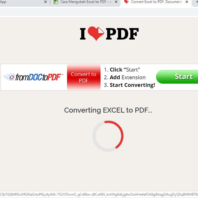 Cara Convert Excel ke PDF