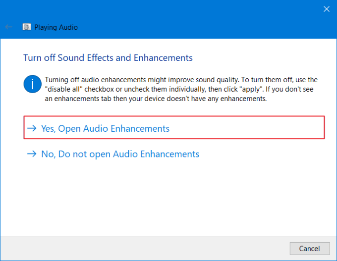 Gunakan Audio Troubleshooter 5
