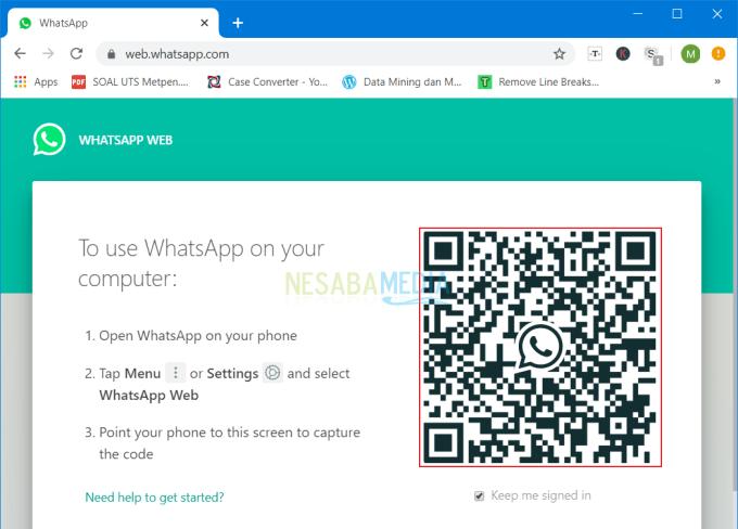 Melihat Barcode Whatsapp 2