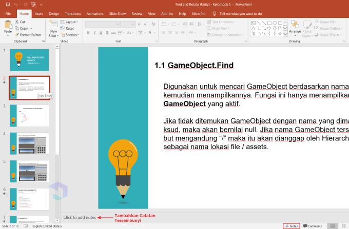 Cara Membuat Catatan Tersembunyi di PowerPoint