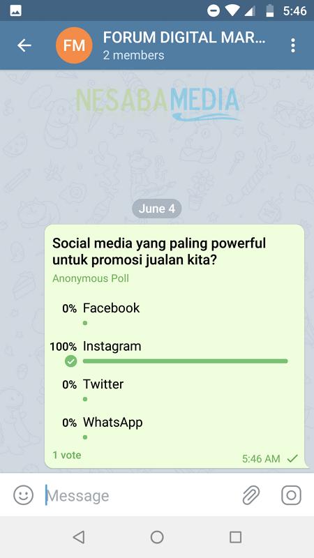 Membuat Polling Di Telegram - Nesabamedia 6