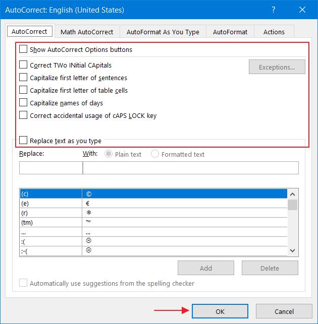 Menonaktifkan Auto Correct di Microsoft Word 4