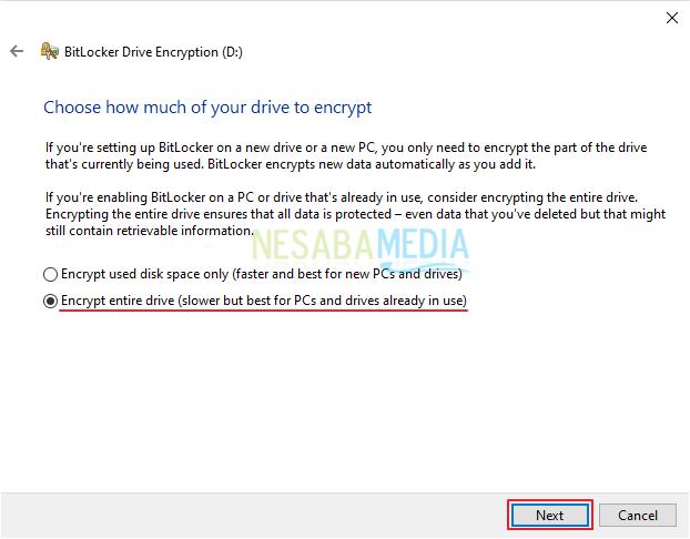 cara mengunci drive / partisi di Windows 10