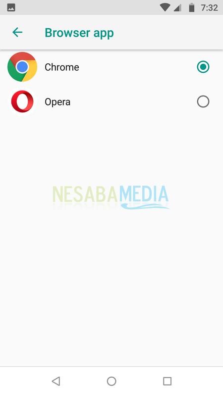 Menjadikan Chrome Sebagai Default Browser di Android 6