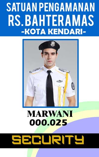 Contoh ID Card untuk Security