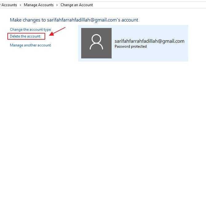 Hapus Akun Microsoft