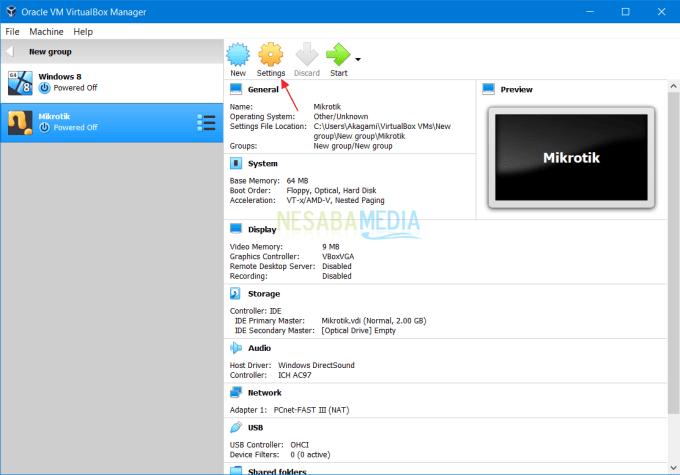 Install RouterOS Mikrotik di VirtualBox 8