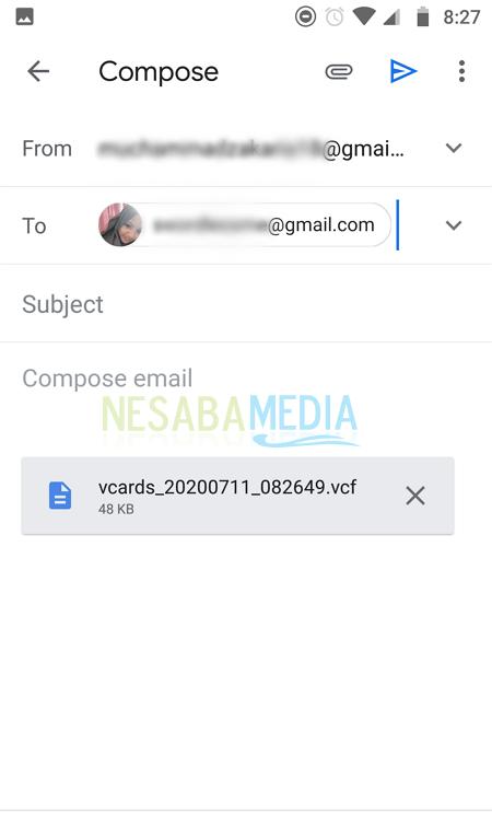 cara memindahkan kontak ke hp baru melalui Gmail