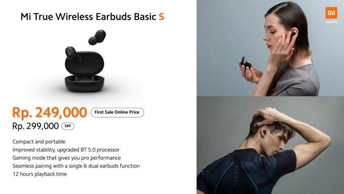 Mi True Wireless Earbuds Basic S TWS nirkabel
