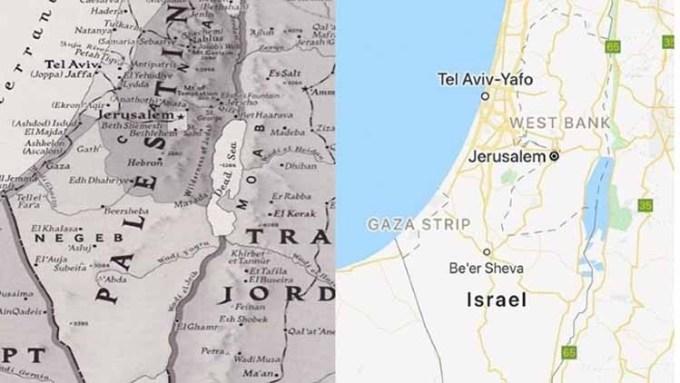 Perbedaan Peta Palestina