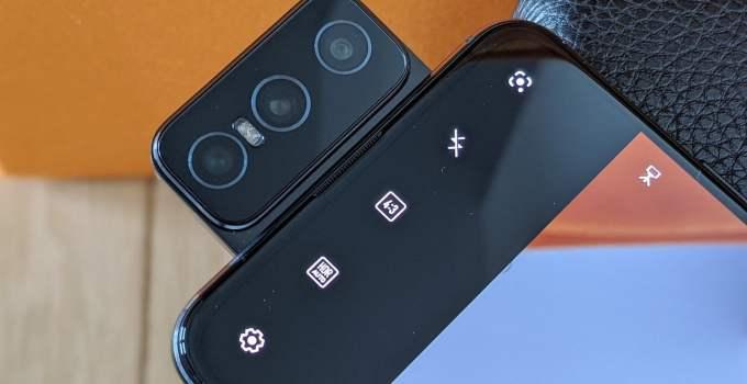 Asus zenfone 7 pro flip-front camera selfie kamera