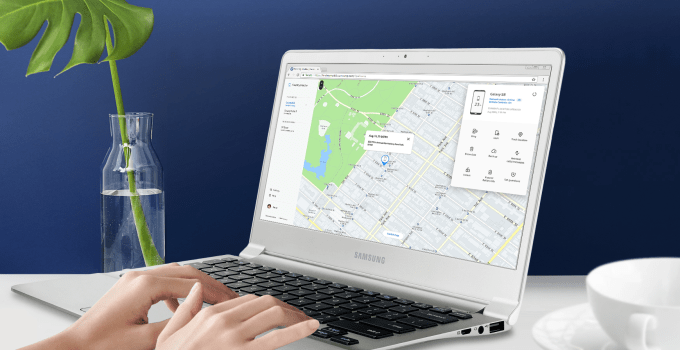 Samsung Find My Phone Device Apps on Laptop