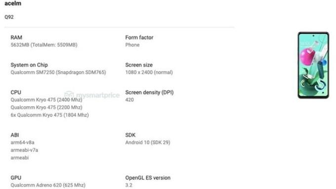 Tes Benchmark LG Q92 5G