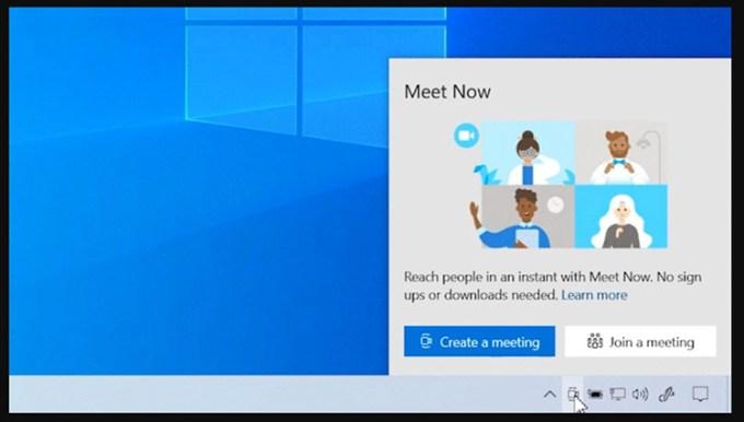 Skype Meet Now Taskbar