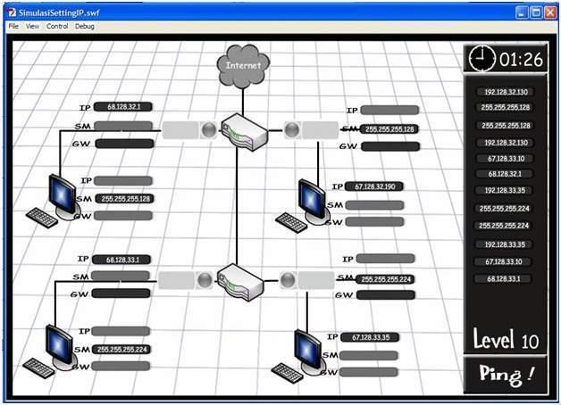 Aplikasi Simulasi Jaringan Internet