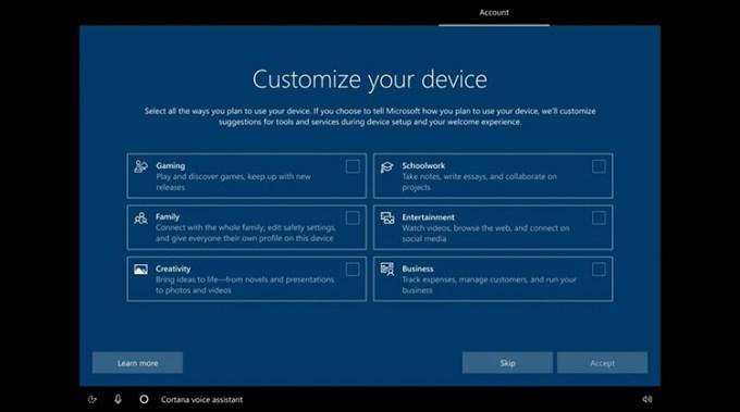 Tampilan Instalasi Windows 10 Baru