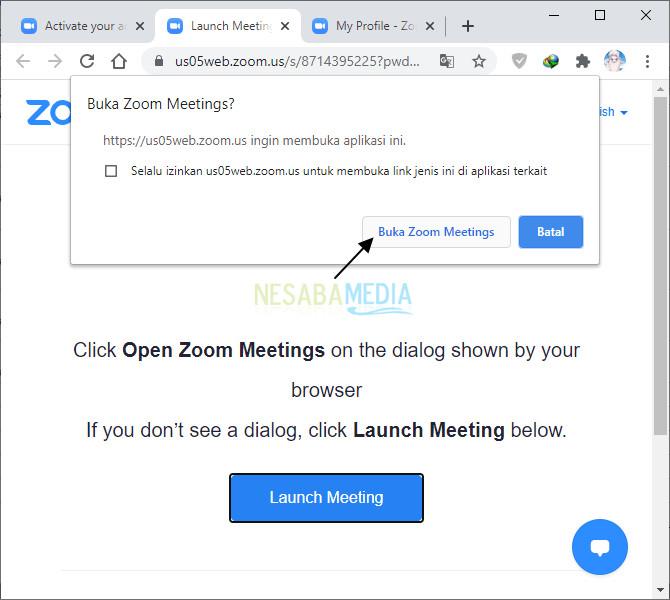 buka zoom meetings