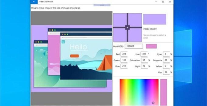 Aplikasi Windows 10 Color Picker