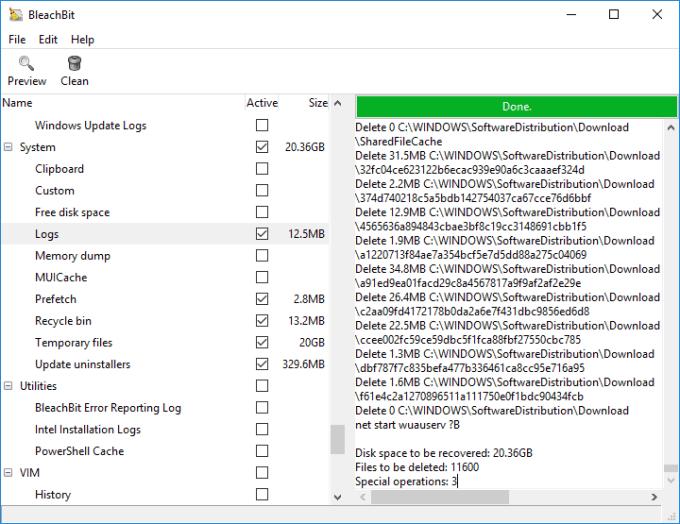 Aplikasi Pembersih Sampah untuk Windows