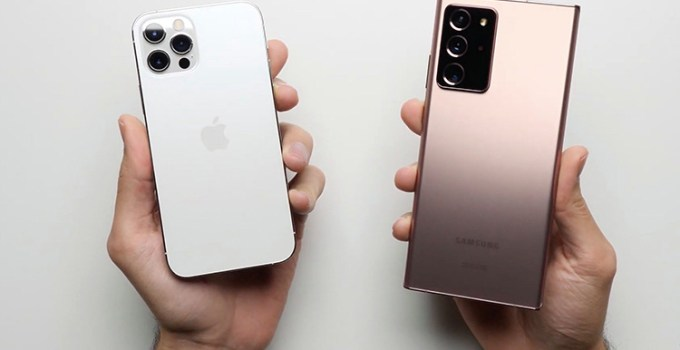 Tes Kecepatan iPhone 12 vs Samsung Note 20 Ultra