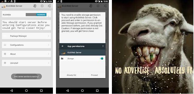 Aplikasi Web Server di Android