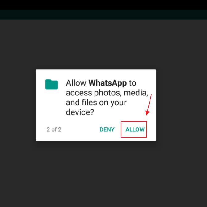 mengizinkan WhatsApp