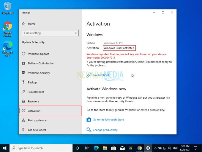 Aktivasi Windows 10 Step 2