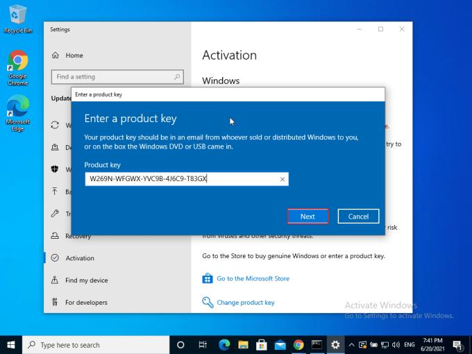 Aktivasi Windows 10 Step 8