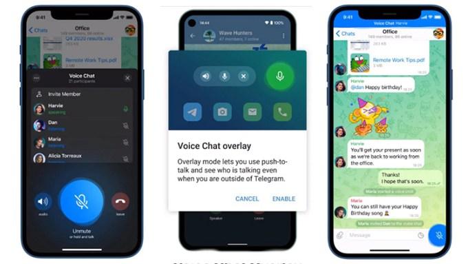 Fitur Baru Voice Chats di Aplikasi Telegram