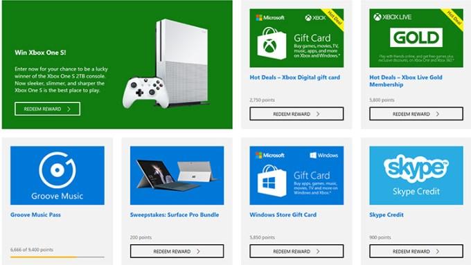 Hadiah di Program Microsoft Rewards