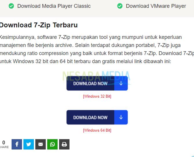 install terlebih dahulu aplikasi 7-Zip