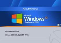 Microsoft Windows 10 Mei 2020 versi 2004