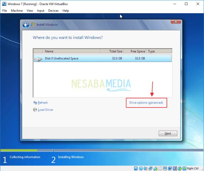 Cara Menginstall Windows 7 di Virtualbox