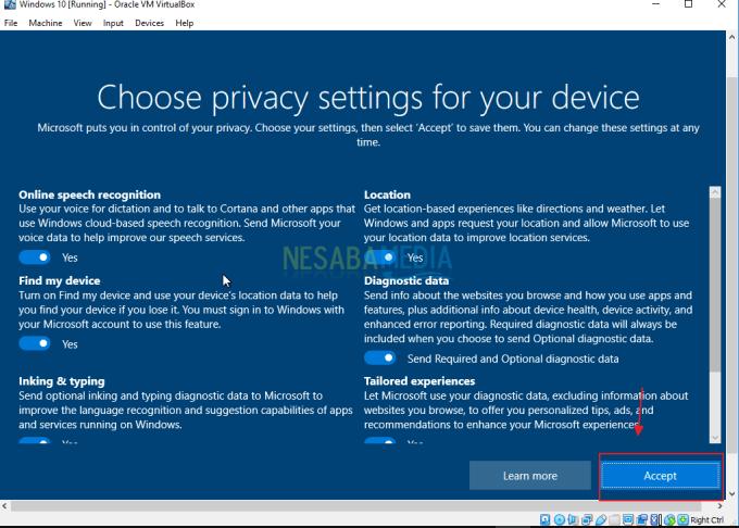 Cara Install Windows 10 di Virtualbox
