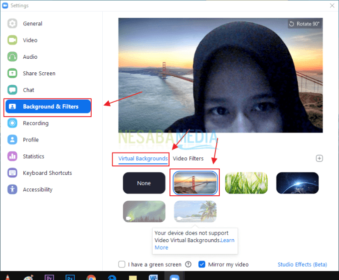 Cara Mengganti Background Zoom Tanpa Green Screen di Laptop