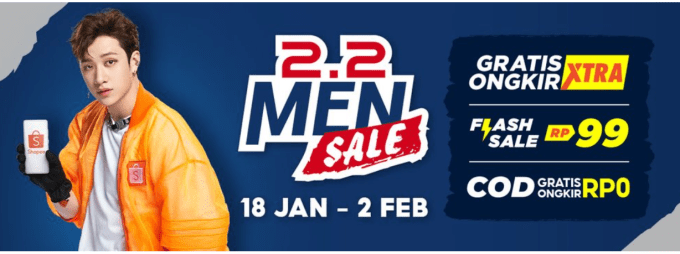 Shopee 2.2 Men Sale