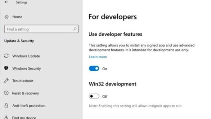 Tampilan Dukungan Win32 di Windows 10X
