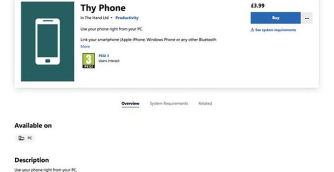 Aplikasi Thy Phone iPhone Windows 10