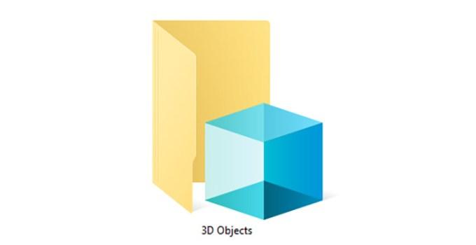 Folder Objek 3D Windows 10