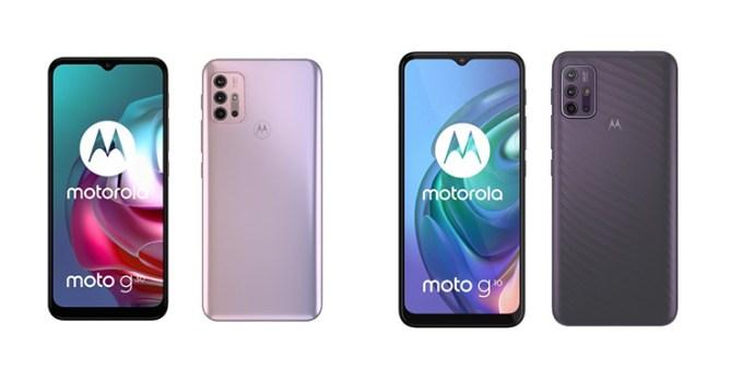Smartphone Motorola Moto G30 dan G10