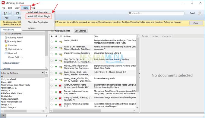 Cara Install Mendeley di Microsoft Word 2013