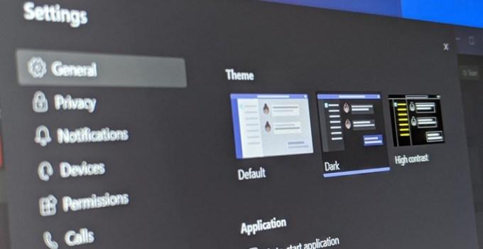 Microsoft Teams Dengan Mode Gelap