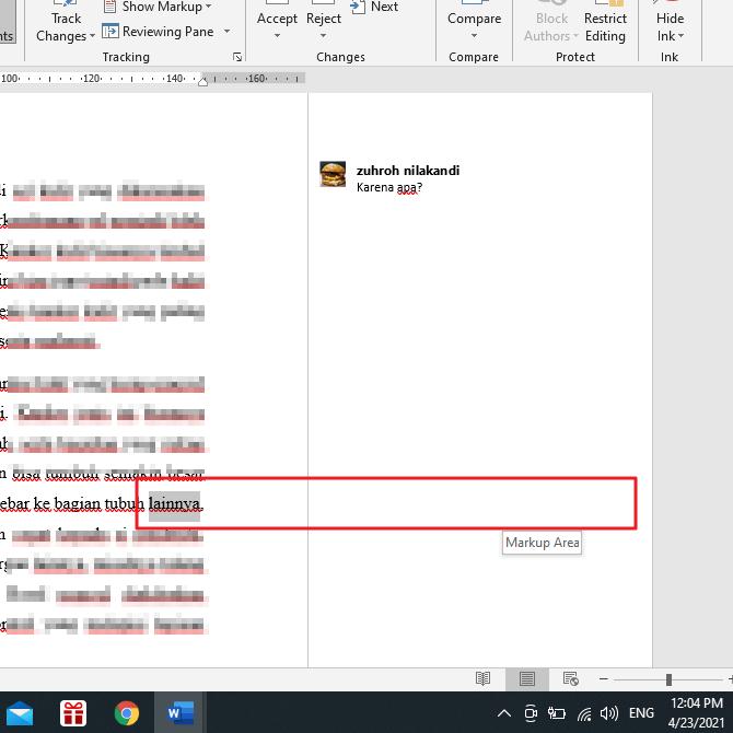 Cara Menghilangkan Comment di MS Word 2013
