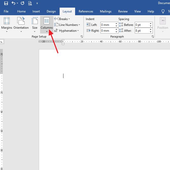 klik column