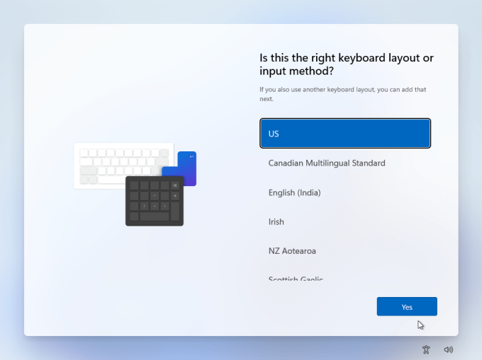 layout keyboard