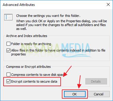 cara enkripsi file/folder di windows