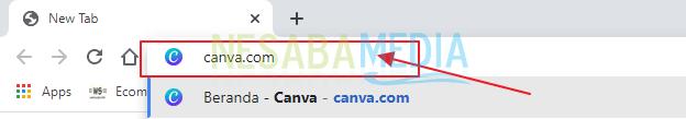 ketikkan canva.com