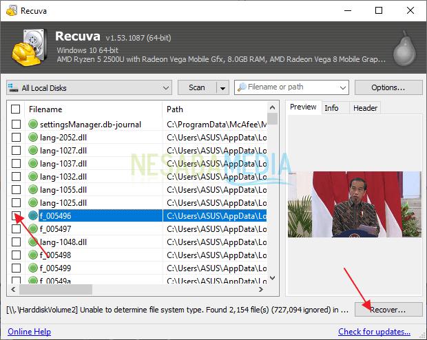klik recover