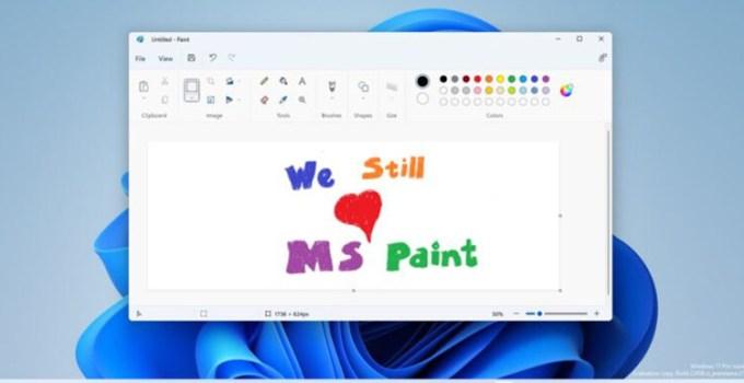 MS Paint Yang di Desain Ulang Bersiap Hadir ke Pengguna Publik