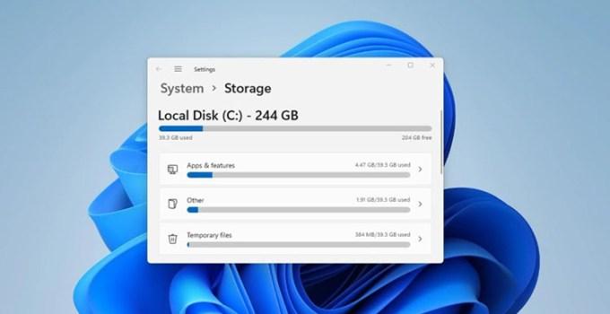 Yang Baru di Windows 11 Storage Settings